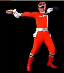 Costume complet Tokusō Sentai Dekaranger , arme incluse.  1575€